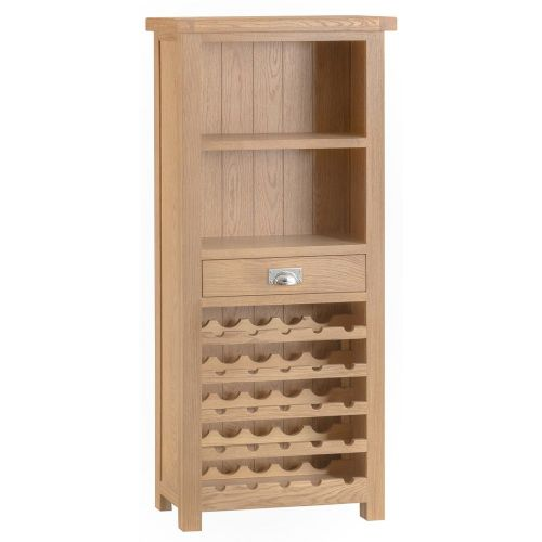 Oakham Washed Wine Rack Cabinet